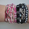 Bracelets perlés tissés