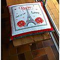 Le coussin I Love Paris réalisé par Ckc