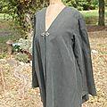 manteau jean gris