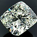 Magnificent, large and fine cushion-cut diamond, 24.37 ct j/vvs1, vg/vg with strong fluorescence