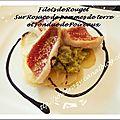 Filets de rouget, fondue de poireaux et rosace de pommes de terre