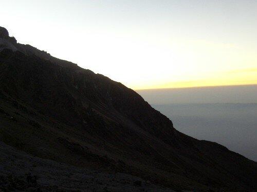 Vers Chachani, lever de soleil