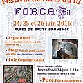 Stages à forcalquier, les 23, 24 et 25 juin 2016