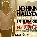 Johnny, la tournée 2013 <b>Paris</b> <b>Bercy</b>.
