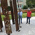 Saint-vincent : huit lames d'acier pour un monument