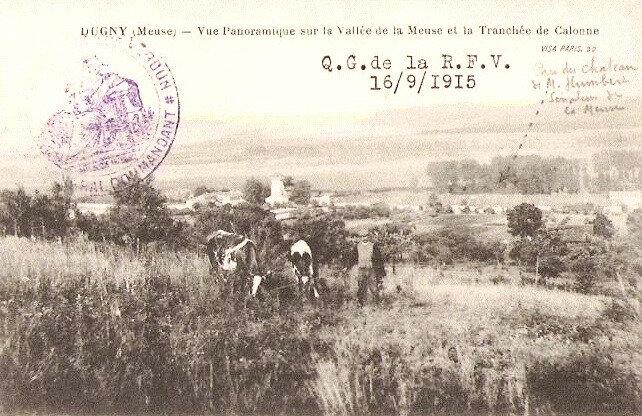 vue de la Meuse et tranchée de Calonne