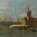 Francesco Guardi (Venice 1712 – 1793), Venice, a view of the <b>Punta</b> <b>della</b> <b>Dogana</b>