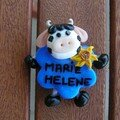 Badge marie hélène vache