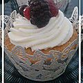Cupcake aux fruits rouge