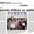 article le parisien 26 nov 08