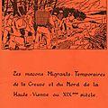 Les maçons migrants temporaires de la creuse et du nord de la haute-vienne au xixe siècle