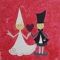 Les mariés au grand coeur...
