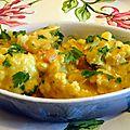 Chou - fleur au curry