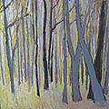 Forêt au pastel.