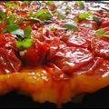 Tarte tatin aux tomates cerises confites