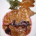 Collage feuilles séchées