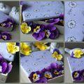 Porcelaine mauve & fleurettes ...