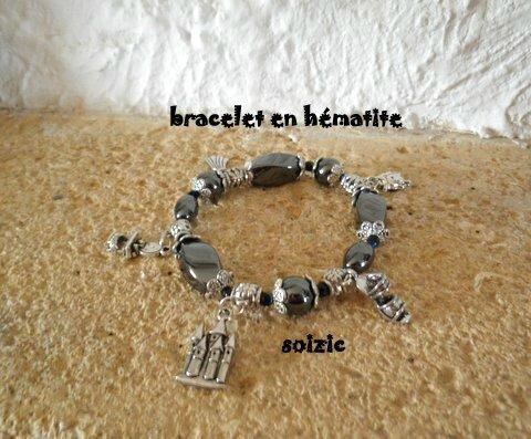 Bracelets breloques en hématite