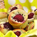 Muffins pistache et framboises