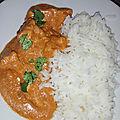 Poulet tikka masala accompagner d'un riz basmati