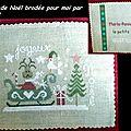 Carte de Noël brodée pour moi par Yvette