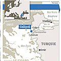 25 avril 1915. Débarquement de <b>Gallipoli</b>.