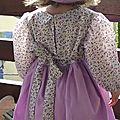 Robe simplicity 7112 3ans fleurs violettes 009