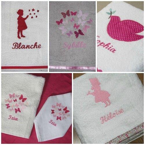 mosaique serviette&lange ROSE