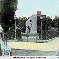Trelon - le carrefour du monument aux morts