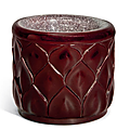 A small red glass cylindrical water pot, 18th-19th century
