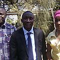 Avec Christian MASANGU et Fanny NYOTA, deux frères et amis de tous les jours