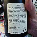 Champagne <b>Jacquesson</b> 2002 et Sauternes : Château du Haire 1975