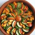Tian de légumes et sa crème d'aubergine