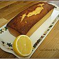 Ronde interblogs 26 : cake au citron