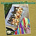Asperges vertes rôties au four, féta & amandes