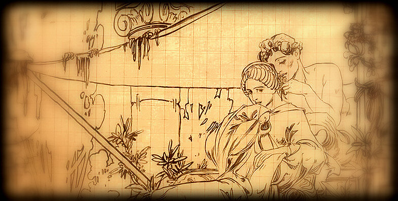 couple_antique_Mucha,