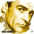 Portrait pop mono Gold gommé