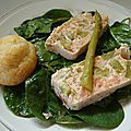 Terrine de saumon fumé aux asperges vertes / Smoked salmon and green <b>asparaguses</b> terrine