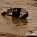 Epaves de bateaux.