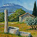 Puits en Provence/ prix 140€/ format 3F(27x22cm)