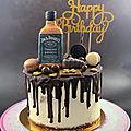 Drip cake au chocolat <b>Jack</b> <b>Daniel</b>'<b>s</b>