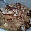 Le quinoa se sert aussi en dessert