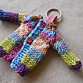 Porte clé tricoté