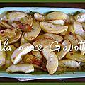 Gratin de poulet aux pommes et au cidre