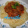 Spaghetti & meat balls curry