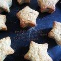 Petites étoiles à la fleur d'oranger et aux raisins secs - sans oeufs ni beurre