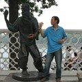 Statue d'un maître de Kung-fu
