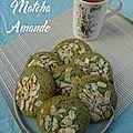 Cookies au thé matcha et amande