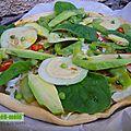 Tarte méli-mélo de légumes verts
