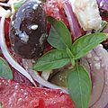 Salade grecque, la vraie!